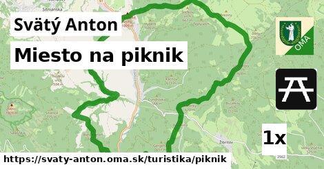 miesto na piknik v Svätý Anton