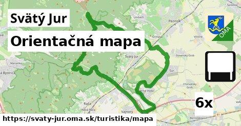 orientačná mapa v Svätý Jur