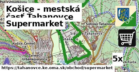 supermarket v Košice - mestská časť Ťahanovce