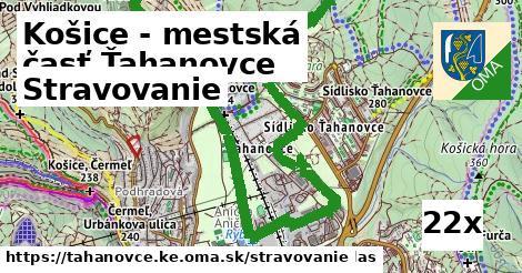 stravovanie v Košice - mestská časť Ťahanovce