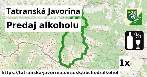 predaj alkoholu v Tatranská Javorina