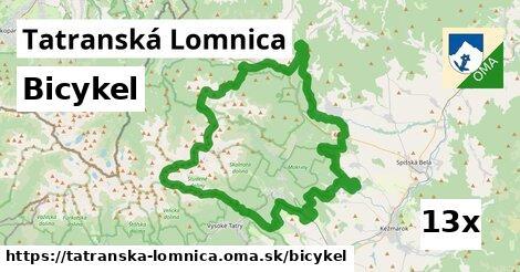 bicykel v Tatranská Lomnica