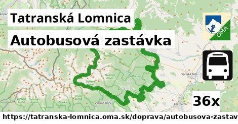 autobusová zastávka v Tatranská Lomnica