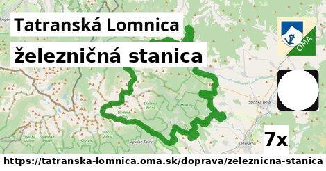 železničná stanica v Tatranská Lomnica