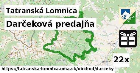 darčeková predajňa v Tatranská Lomnica