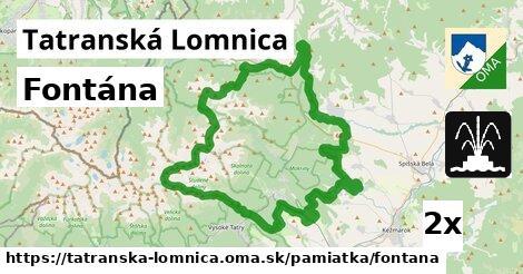 fontána v Tatranská Lomnica