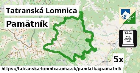 pamätník v Tatranská Lomnica