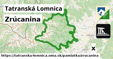 zrúcanina v Tatranská Lomnica