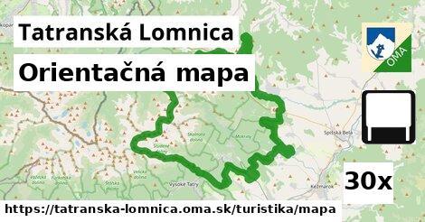 orientačná mapa v Tatranská Lomnica
