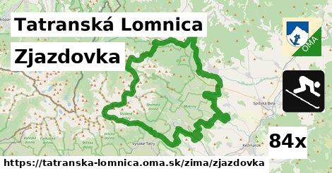 zjazdovka v Tatranská Lomnica