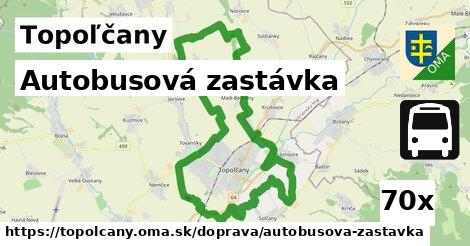 autobusová zastávka v Topoľčany