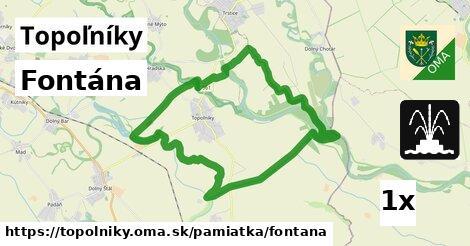 fontána v Topoľníky