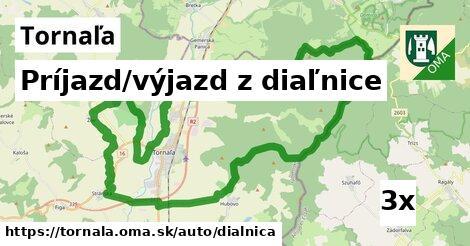príjazd/výjazd z diaľnice v Tornaľa