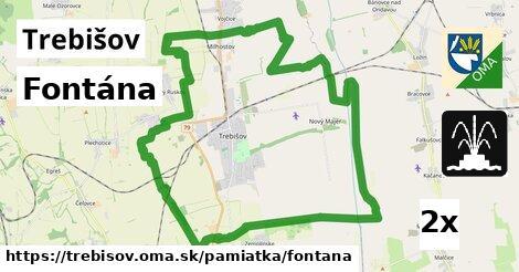 Fontána, Trebišov
