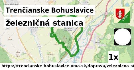 železničná stanica v Trenčianske Bohuslavice
