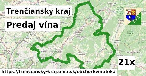 predaj vína v Trenčiansky kraj