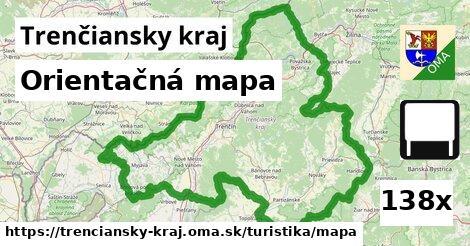 ilustračný obrázok k Orientačná mapa, Trenčiansky kraj