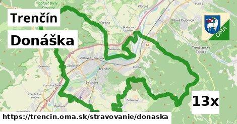 donáška v Trenčín