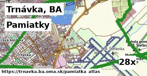 pamiatky v Trnávka, BA