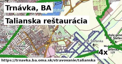 talianska reštaurácia v Trnávka, BA