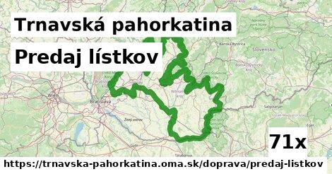 ilustračný obrázok k Predaj lístkov, Trnavská pahorkatina