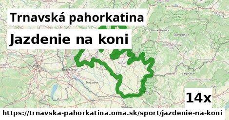 ilustračný obrázok k Jazdenie na koni, Trnavská pahorkatina