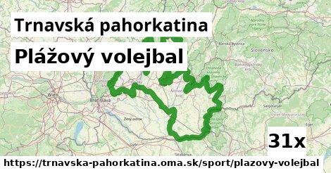 ilustračný obrázok k Plážový volejbal, Trnavská pahorkatina
