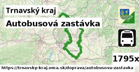 autobusová zastávka v Trnavský kraj