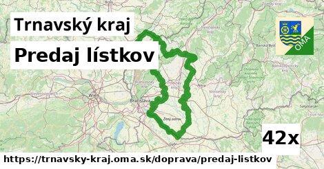 predaj lístkov v Trnavský kraj