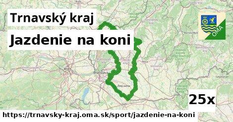 jazdenie na koni v Trnavský kraj