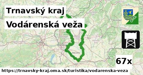 vodárenská veža v Trnavský kraj