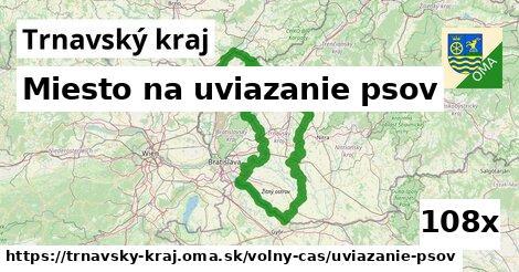 miesto na uviazanie psov v Trnavský kraj