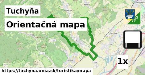 orientačná mapa v Tuchyňa