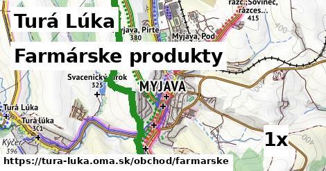 farmárske produkty v Turá Lúka