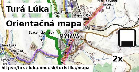 orientačná mapa v Turá Lúka