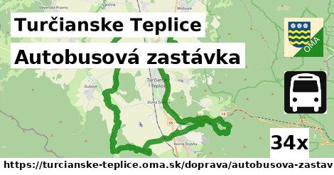 autobusová zastávka v Turčianske Teplice