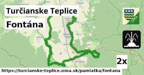 ilustračný obrázok k Fontána, Turčianske Teplice