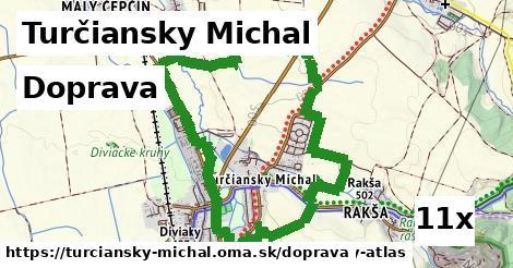 doprava v Turčiansky Michal