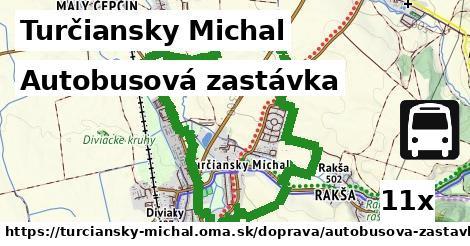 autobusová zastávka v Turčiansky Michal