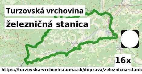 ilustračný obrázok k železničná stanica, Turzovská vrchovina