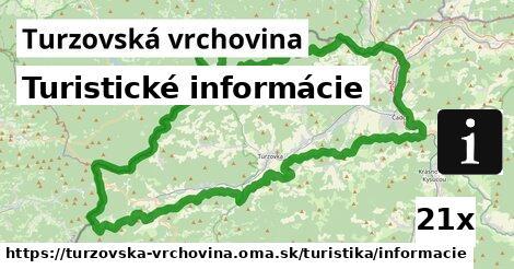 ilustračný obrázok k Turistické informácie, Turzovská vrchovina