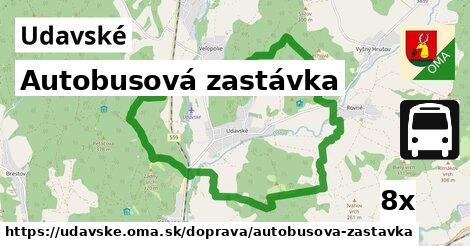 autobusová zastávka v Udavské