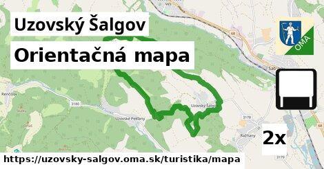 ilustračný obrázok k Orientačná mapa, Uzovský Šalgov