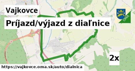 ilustračný obrázok k Príjazd/výjazd z diaľnice, Vajkovce