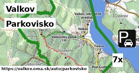 parkovisko v Valkov