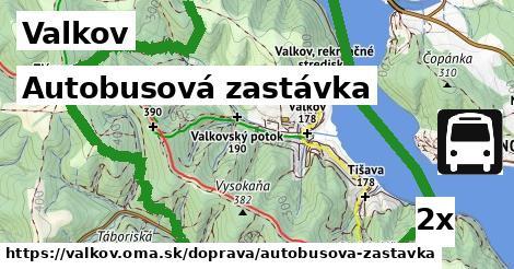 autobusová zastávka v Valkov