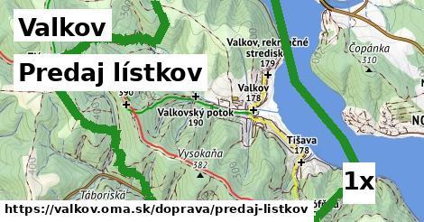 ilustračný obrázok k Predaj lístkov, Valkov