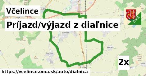 príjazd/výjazd z diaľnice v Včelince