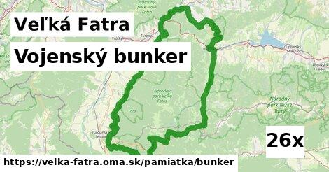 vojenský bunker v Veľká Fatra