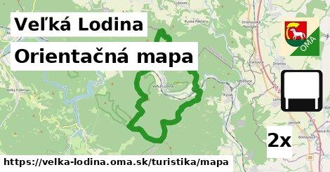 ilustračný obrázok k Orientačná mapa, Veľká Lodina